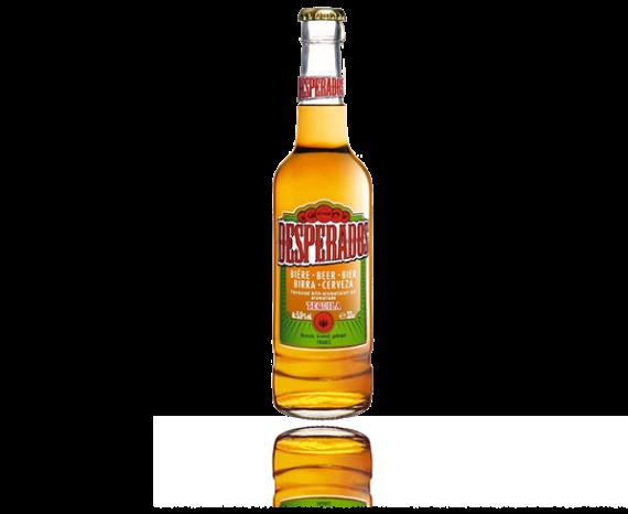 Eine Flasche von Desperados Bier in der 0,33l Flasche.