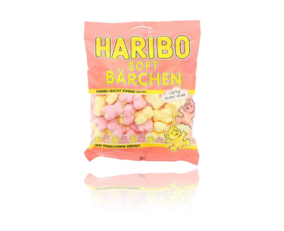 Packung von Haribo Softbärchen Fruchtgummi - 200g