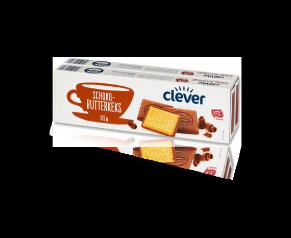 Eine Packung von Clever Schoko Butterkeks - 125g